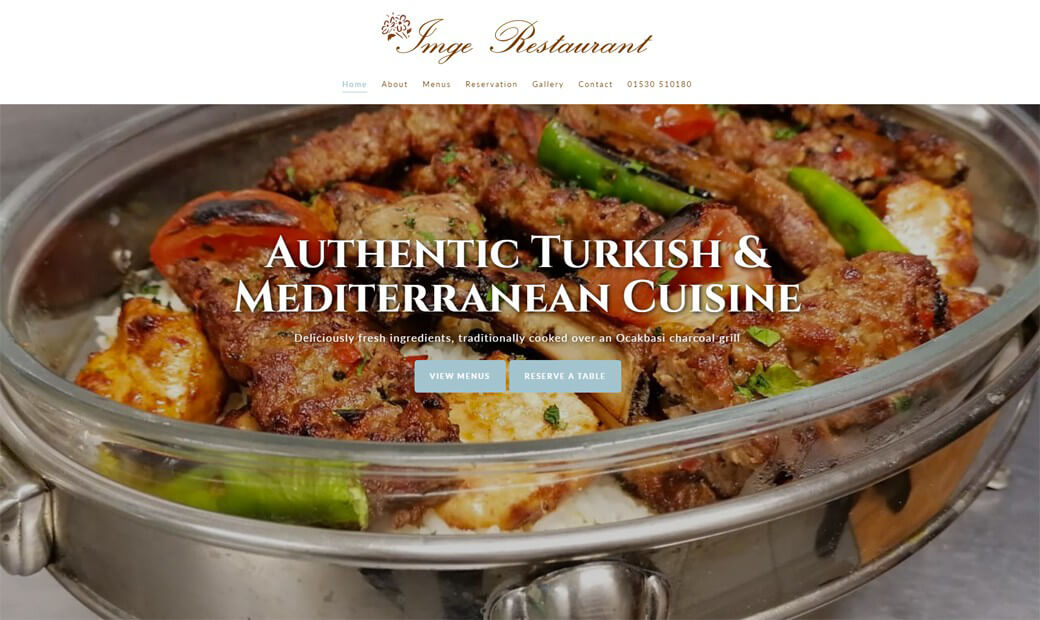 New website for Turkish restaurant