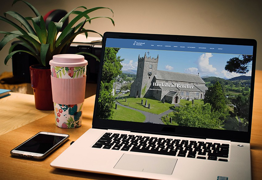 A new website designed in Cumbria for Hawkshead Benefice