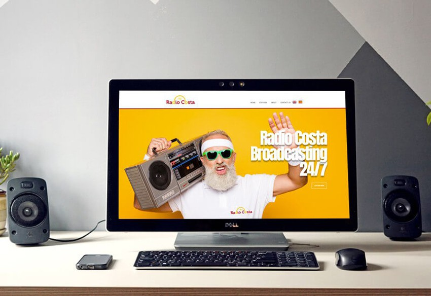 A new website designed in Cumbria for Radio Costa