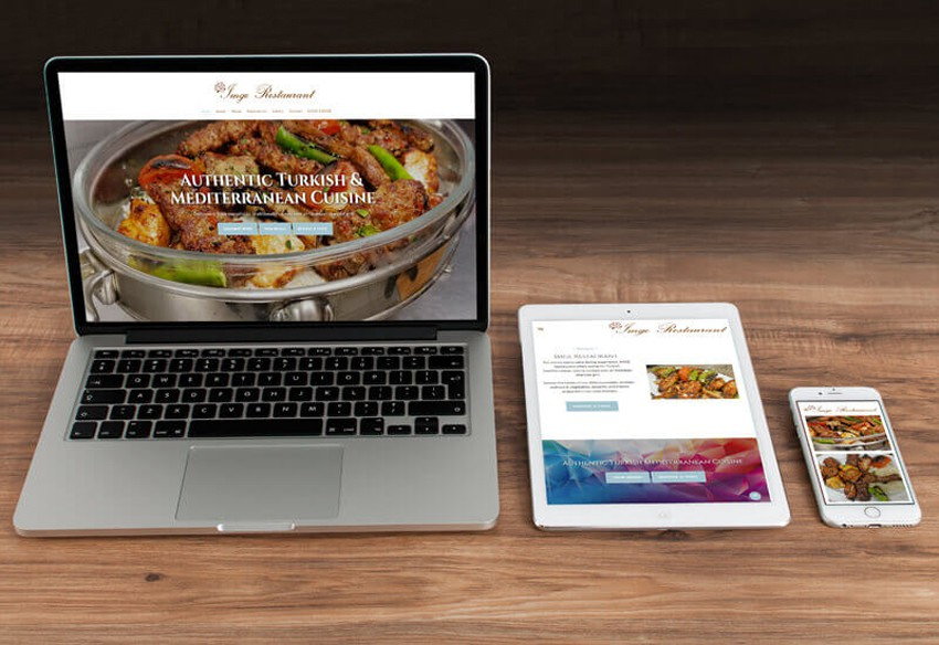 A new website designed in Cumbria for Imge Restaurant