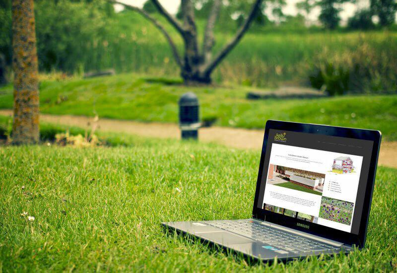 Website designed in Cumbria by Windermere based Iosys for KellyBrown Garden Design, Garden design consultancy
